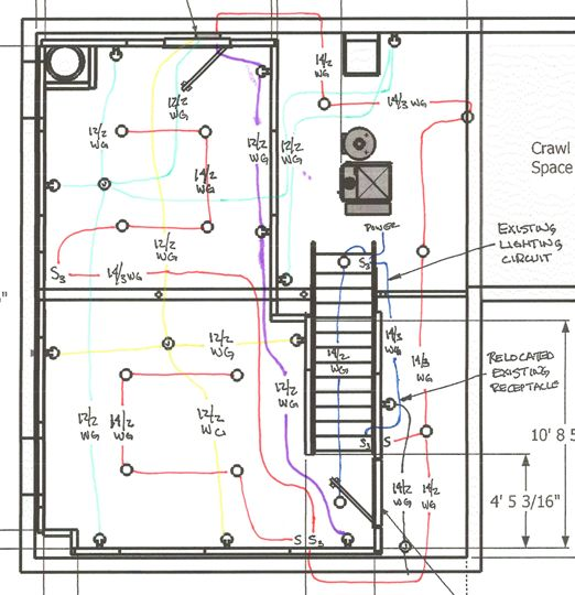 breaker tripping doityourself com community forums the lighting circuit is the red one and is on a 15 amp afci i think that s the term breaker the panel is at the top of the diagram