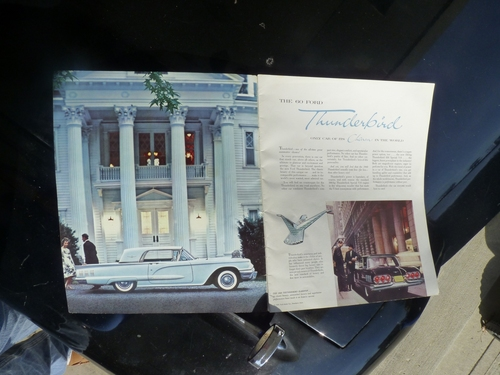 1960 Thunderbird  Brochure 1-2
