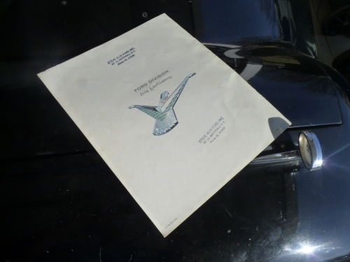 1960 Thunderbird Brochure Back